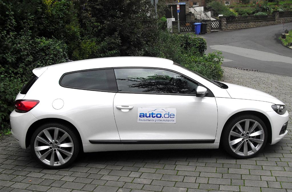 VW Scirocco: Und so sieht das kompakte Sportcoupé von der Seite aus.