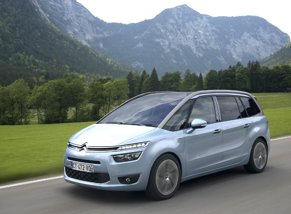 Viel Glas und beim Radstand deutlich zugelegt: Citroën Grand C4 Picasso.