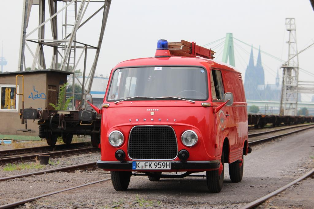 Wer mit diesem Einsatzwagen durch Köln fährt, der erntet allenfalls ein freundliches Lächeln