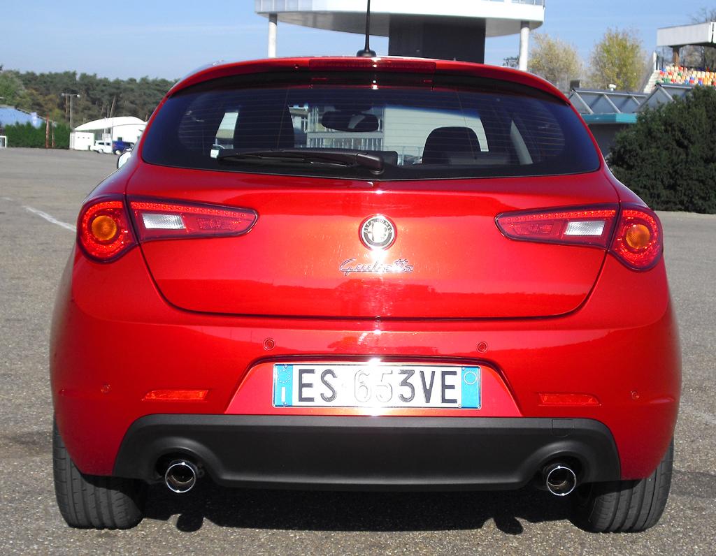 Alfa Romeo Giulietta: Blick auf die Heckpartie.