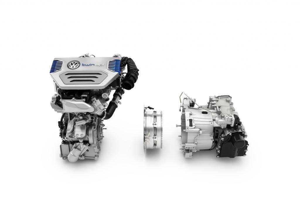 Der Antriebs des VW Twin Up mit Zweizylinder-Diesel und Elektromotor