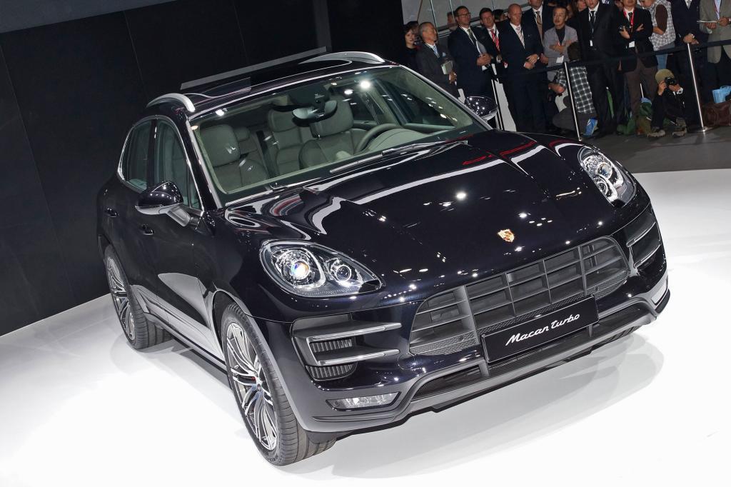 Der Porsche Macan zählt zu den Star der Messe