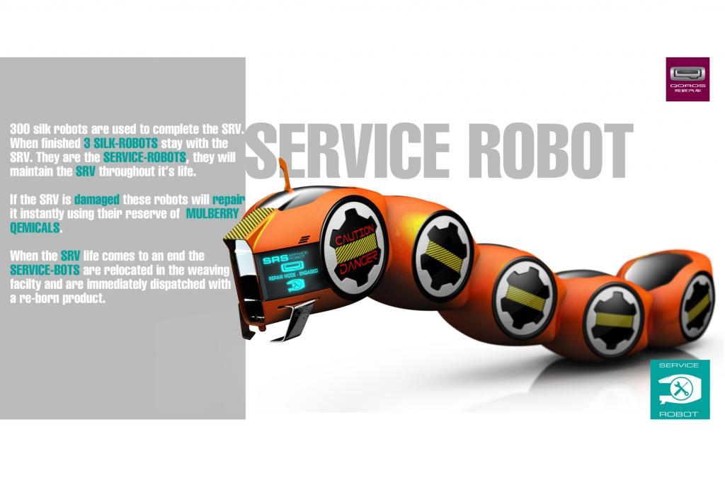 Der Reparaturroboter ist einer Seidenraupe nachempfungen