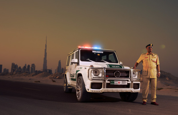 Dubai 2013: Ein Streifenwagen für die Wüsten