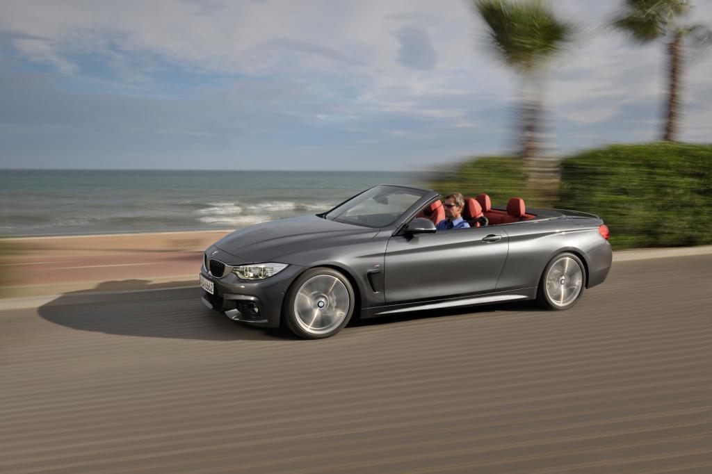 Ebenso feiert auch das BMW 4er Cabrio eine zweifache Weltpremiere