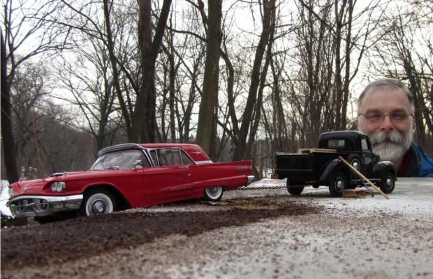 Fotokunst am Fahrzeug -  Die Stadt der Auto-Erinnerungen