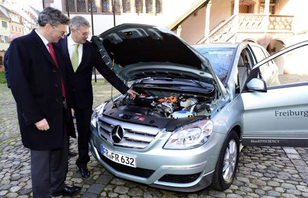 Freiburger Stadtverwaltung fährt Mercedes-Benz B-Klasse F-Cell
