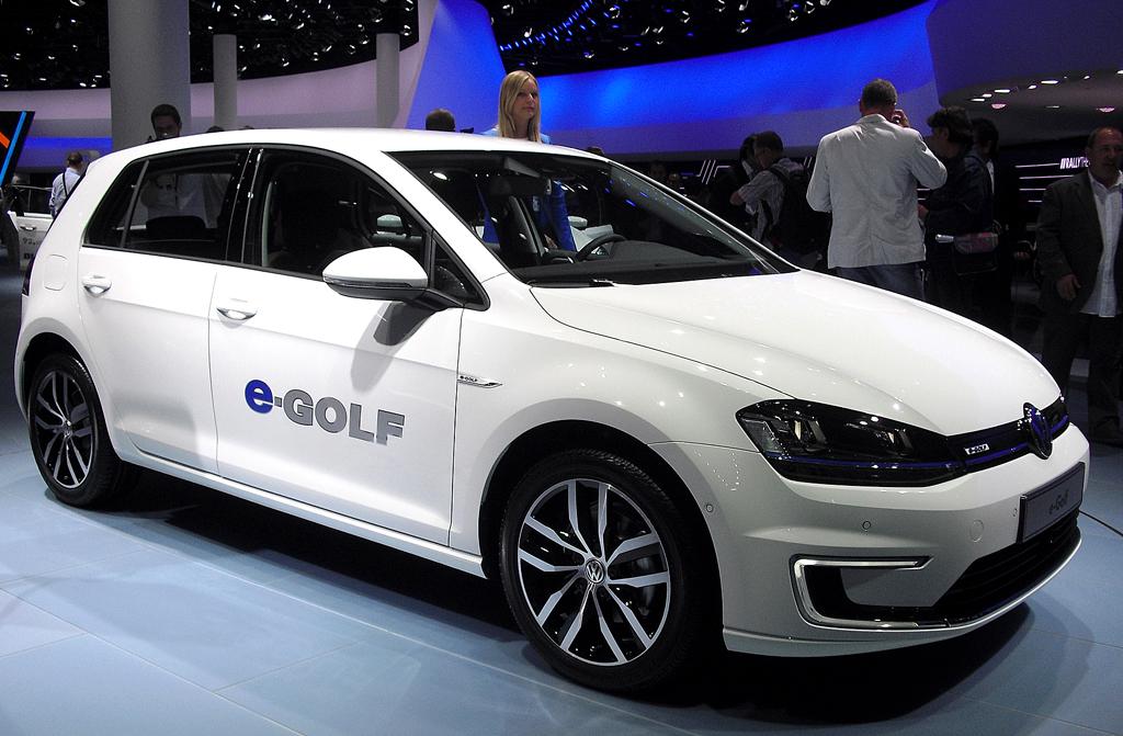 Mit elektrischem Antrieb: VW-Kompaktmodell E-Golf.