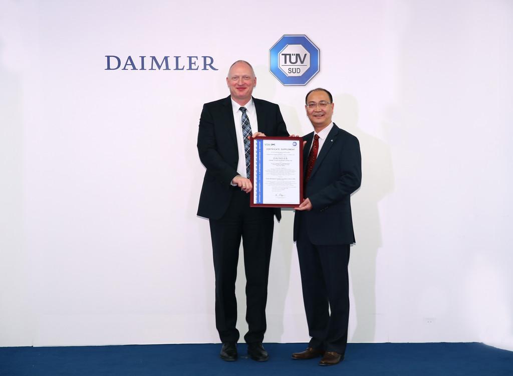 Servicequalität von Daimler in China zertifiziert