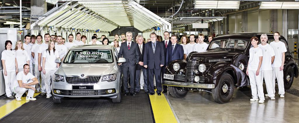 Skoda hat in Kvasiny 1,5 Millionen Autos gebaut