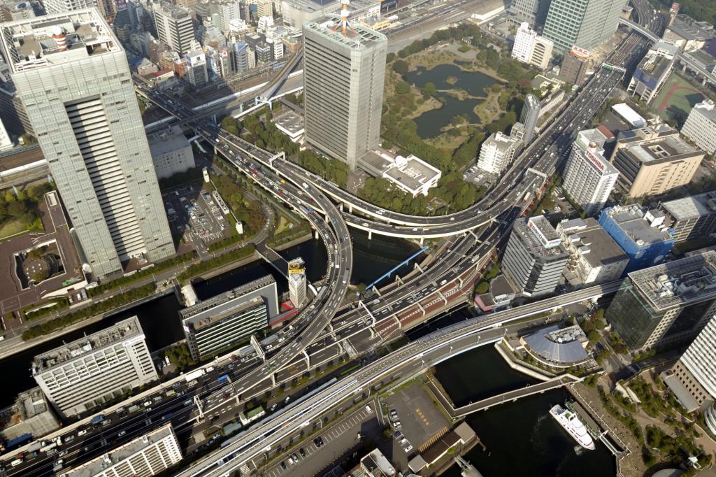 Straßenverkehr in Tokio