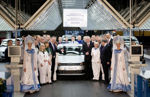 VW-Werk Kaluga produziert 700 000stes Fahrzeug