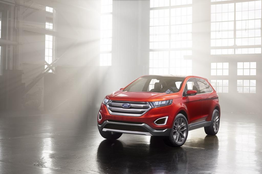 Während Chrysler nicht viel Neues zu bieten hat, bringt Ford einen Ausblick auf den neuen Edge.
