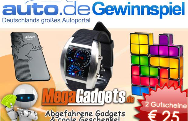 auto.de-Gewinnspiel: 25 Euro Gutscheine für Megagadgets.de
