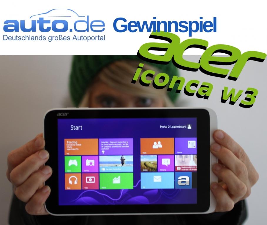 auto.de-Gewinnspiel: Fit durch den Winter - Mit dem Tablet Acer Iconia W3 und dem neuen Windows 8.1