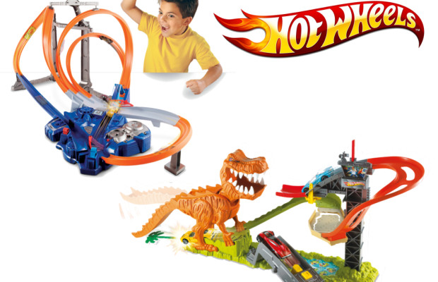 auto.de-Weihnachtsgewinnspiel: Hot Wheels Looping Action Park und  Hot Wheels T-Rex Takedown Trackset