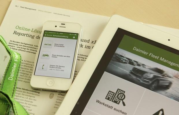 Daimler bietet Service-App für Flottenkunden