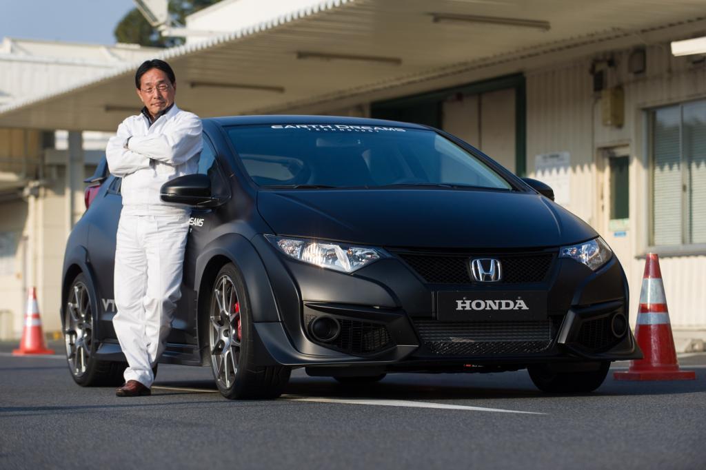 Der Ingenieur ist Chefentwickler für den neuen Honda Civic Type R und deshalb in den letzten Monaten Dauergast in der Eifel.