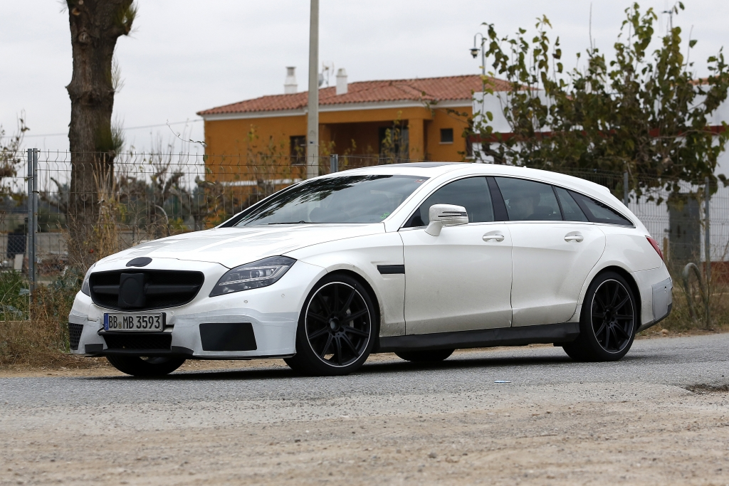 Erwischt: Erlkönig Mercedes CLS 63 AMG Shooting Brake Facelift