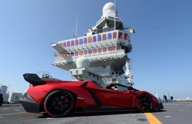Lamborghini-Supersportler gibt sein Debut auf Flugzeugträger