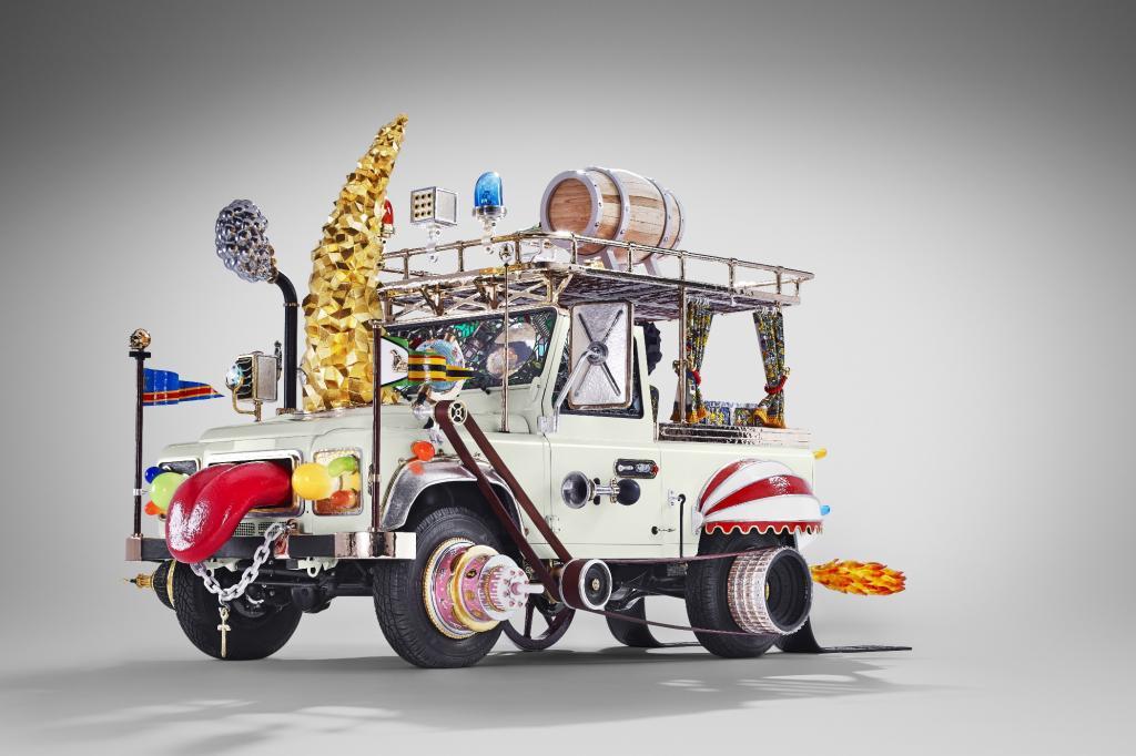 Land Rover Defender als Kunstwerk