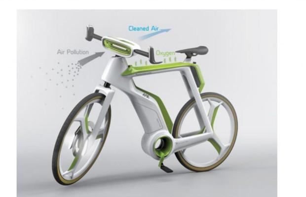 Luftreinigendes E-Bike Concept - Grüner als Grün