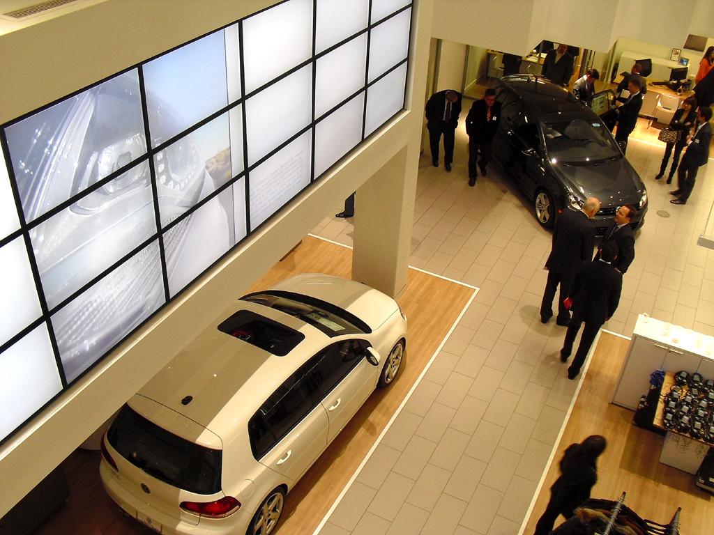 VW-Showroom in New York: Auch der US-amerikanische Markt bleibt für den Absatz wichtig.