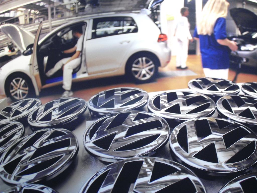 Wichtig für effiziente Produktion sind gutes Timung und gute Logistik, hier bei VW.
