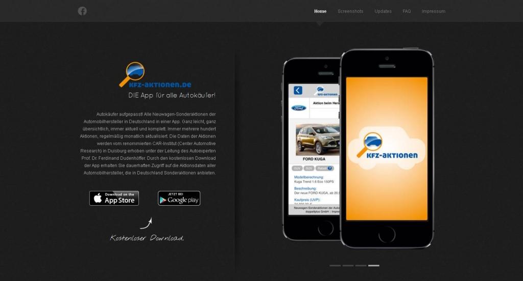 Alle Sonderaktionen der Kfz-Hersteller in Deutschland in einer kostenlosen App finden