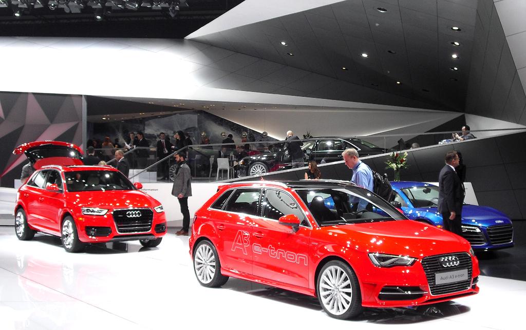 Audi-Stand bei der Autoschau in Detroit: Es lohnt sich für deutsche Hersteller, in die USA zu kommen.