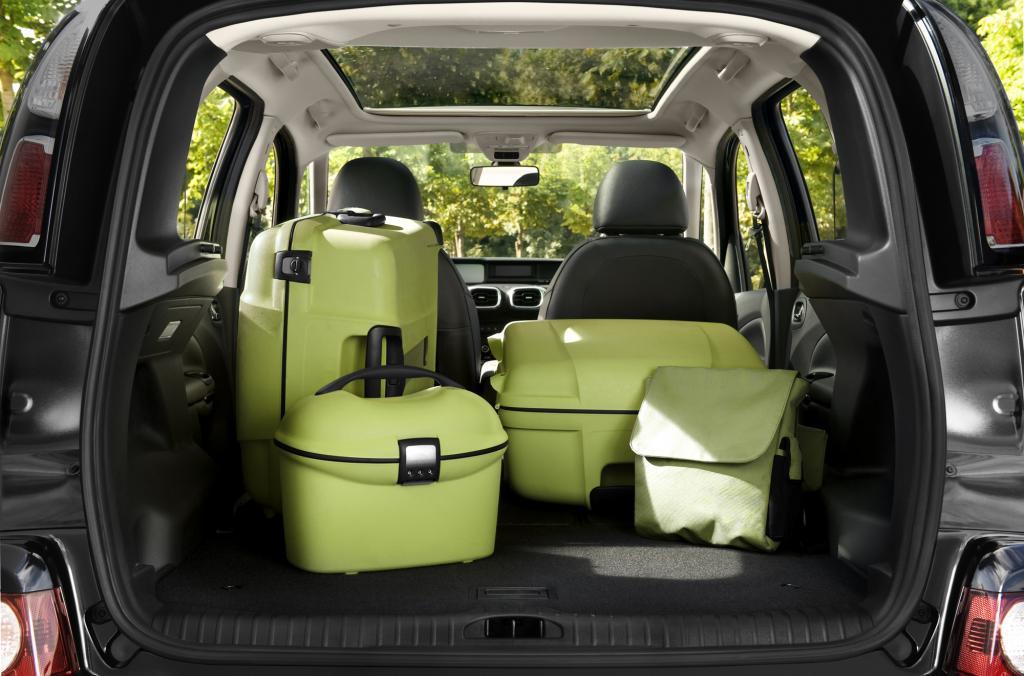 Auf nur vier Metern packt der Fünfsitzer ordentlich was weg – 385 Liter Gepäck im Normalfall, 1.506 Liter maximal