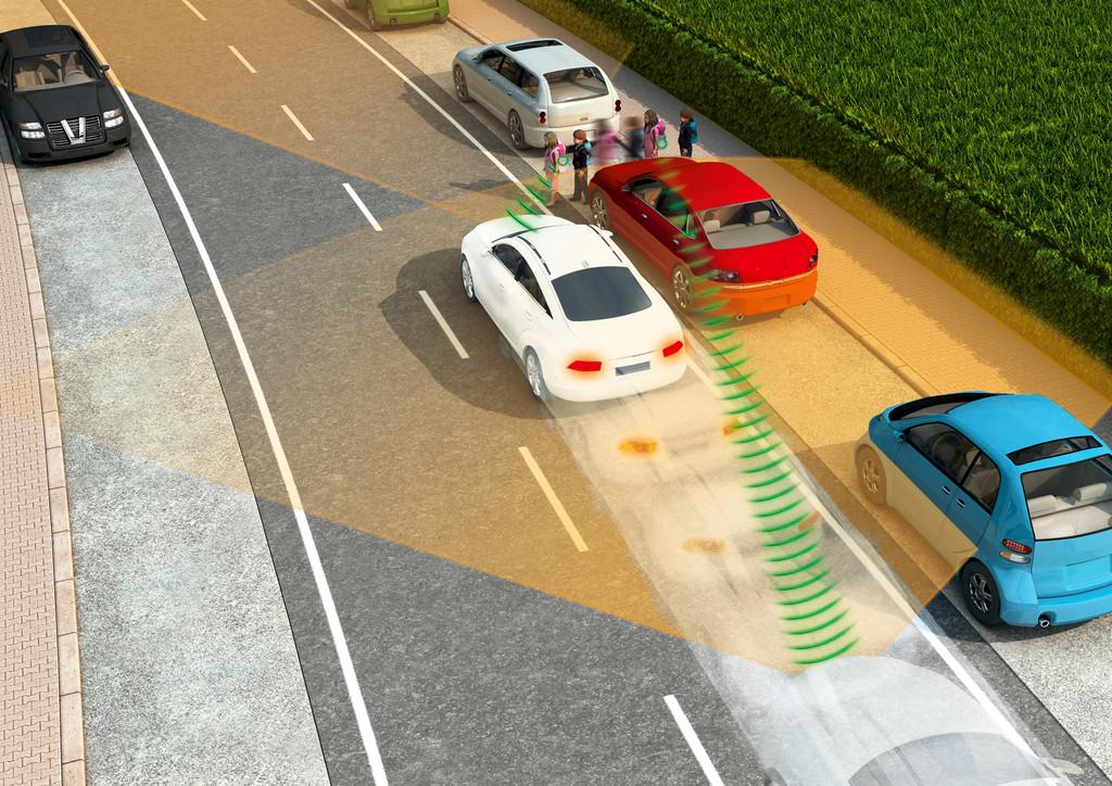 Autos mit Durchblick - Handy soll Vollbremsung einleiten