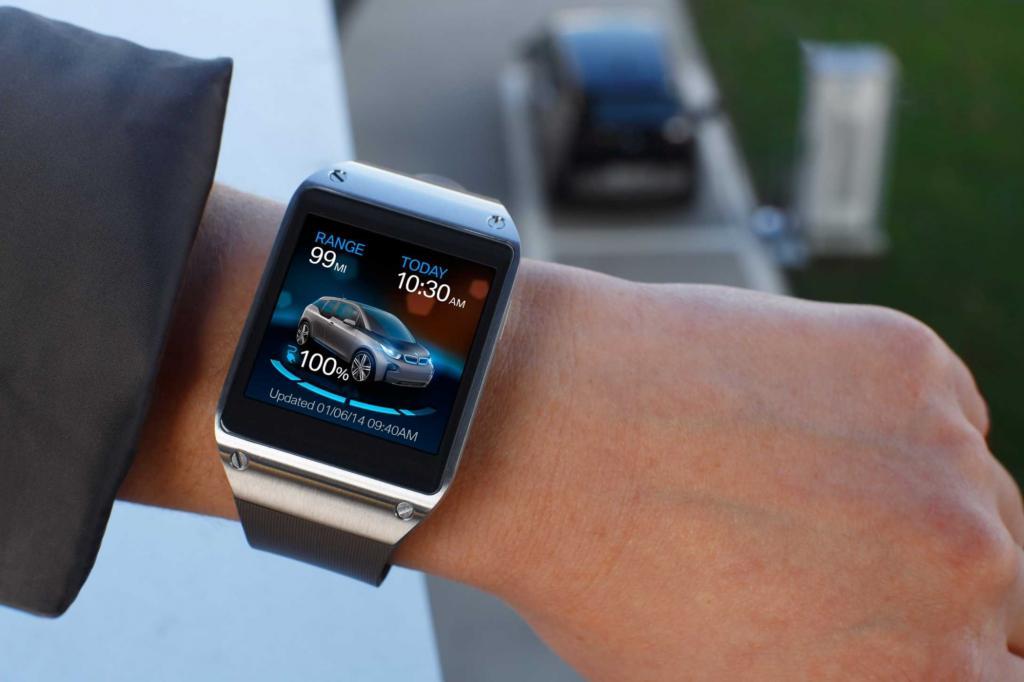 BMW hat eine Smartwatch für Besitzer des i3 entwickelt, die dem Nutzer relevante Informationen seines Elektroautos direkt auf dem Handgelenk anzeigt.