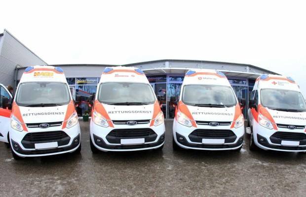 BRK bekommt  Ford Transit Custom als Krankentransportwagen