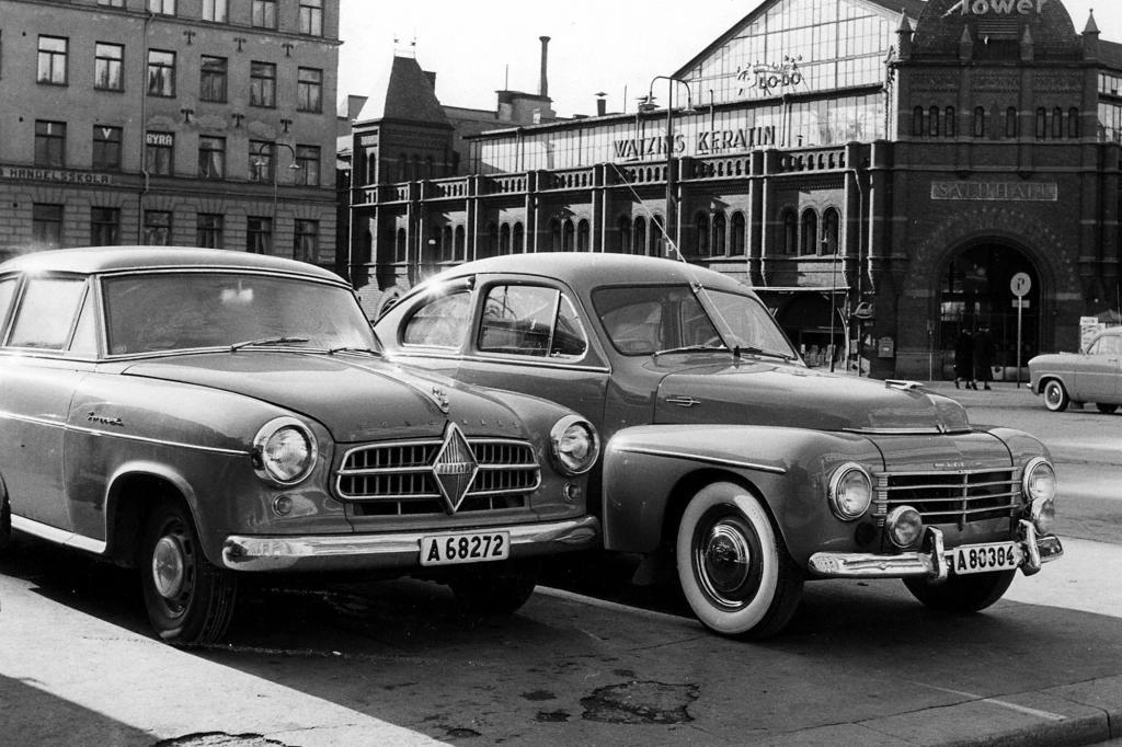 Borgward Isabella ab 1954 und Volvo PV444 ab 1944