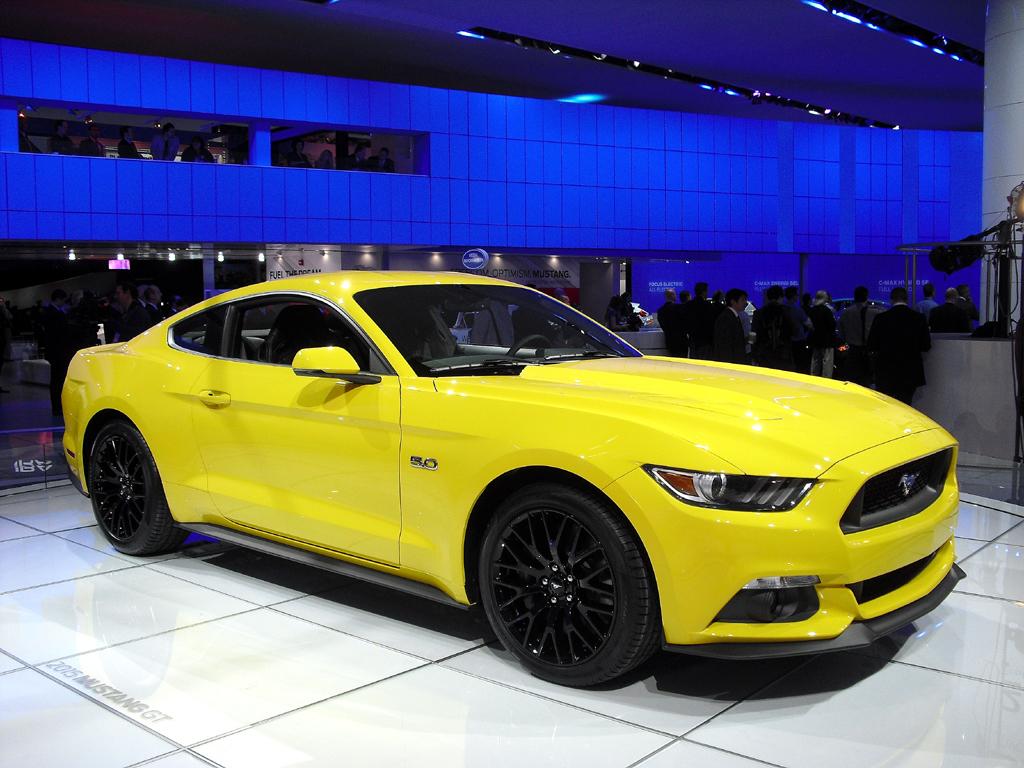 Ebenfalls auf dem Stand zu sehen: Fords neuer Mustang.