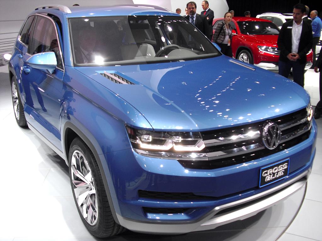 Entscheidung gefallen: Das große Midsize-SUV-Modell von VW, hier als Basis die Crossblue-Studie, wird für Amerika gebaut.
