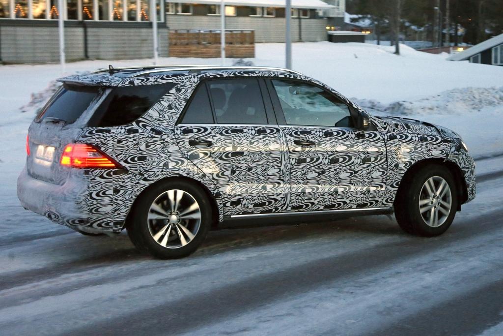 Erwischt: Erlkönig Mercedes ML Facelift – Das neue Gesicht