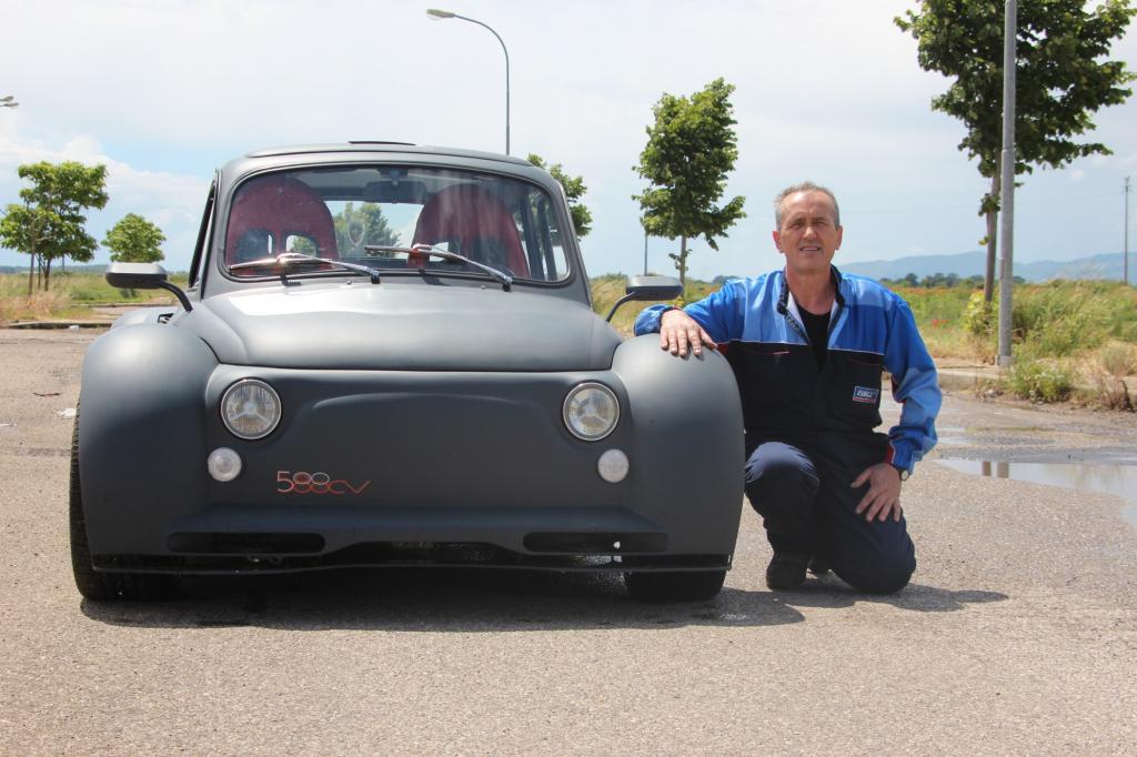 Gianfranco Dini hat das Auto in seiner Freizeit gebaut