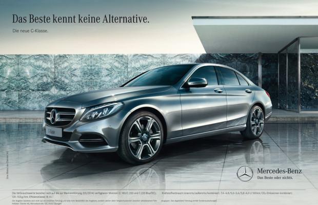 Kampagne zur Markteinführung der neuen Mercedes-Benz C-Klasse gestartet