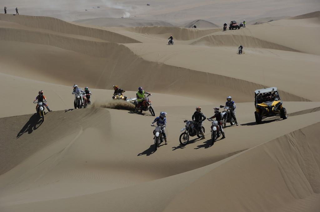 Neunte Etappe der Dakar 2014.