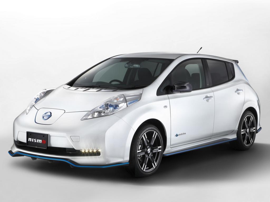 Nissan zeigte sein Erfolgsmodell Leaf im vergangenen Jahr in der Nismo-Version.