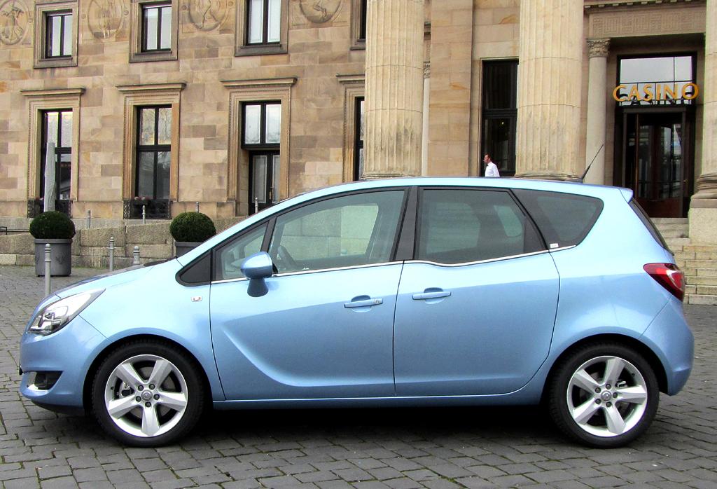 Opel Meriva: So sieht das kleine Monocab-Fahrzeug der Rüsselsheimer von der Seite aus.