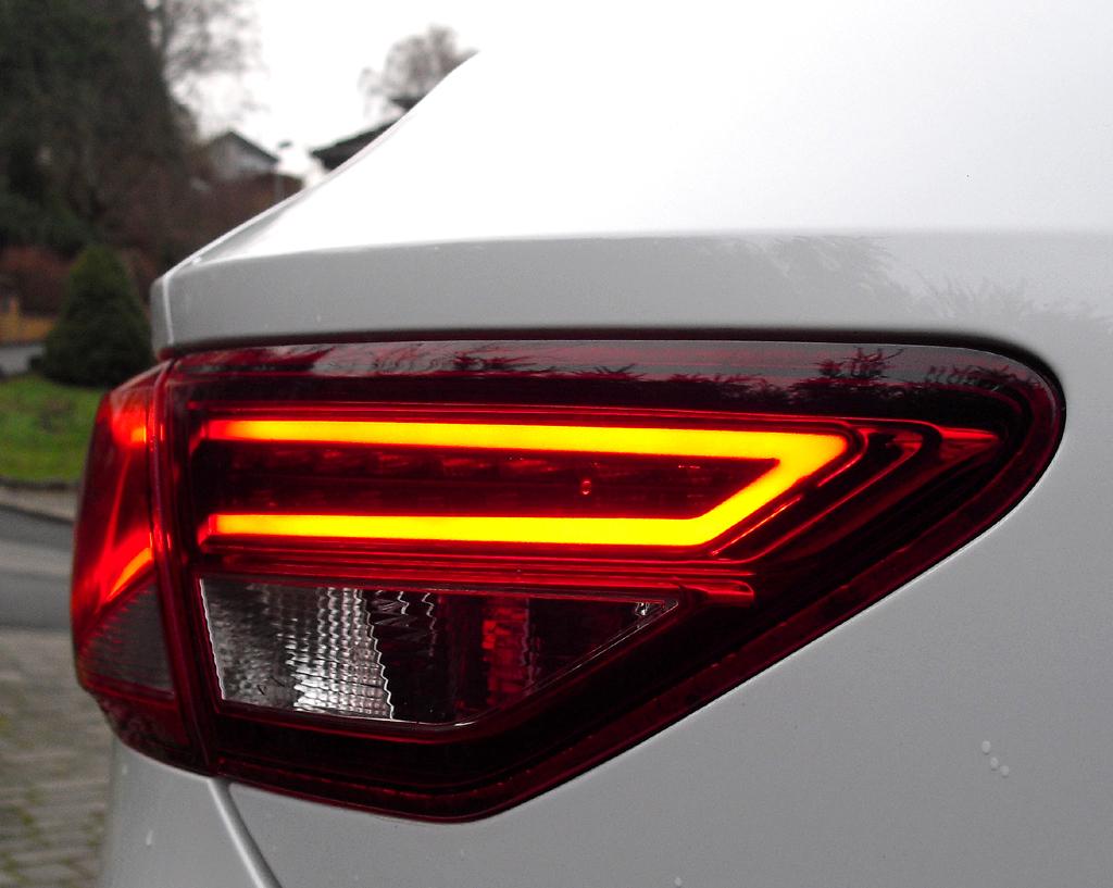 Seat León SC: Moderne Leuchteinheit hinten.