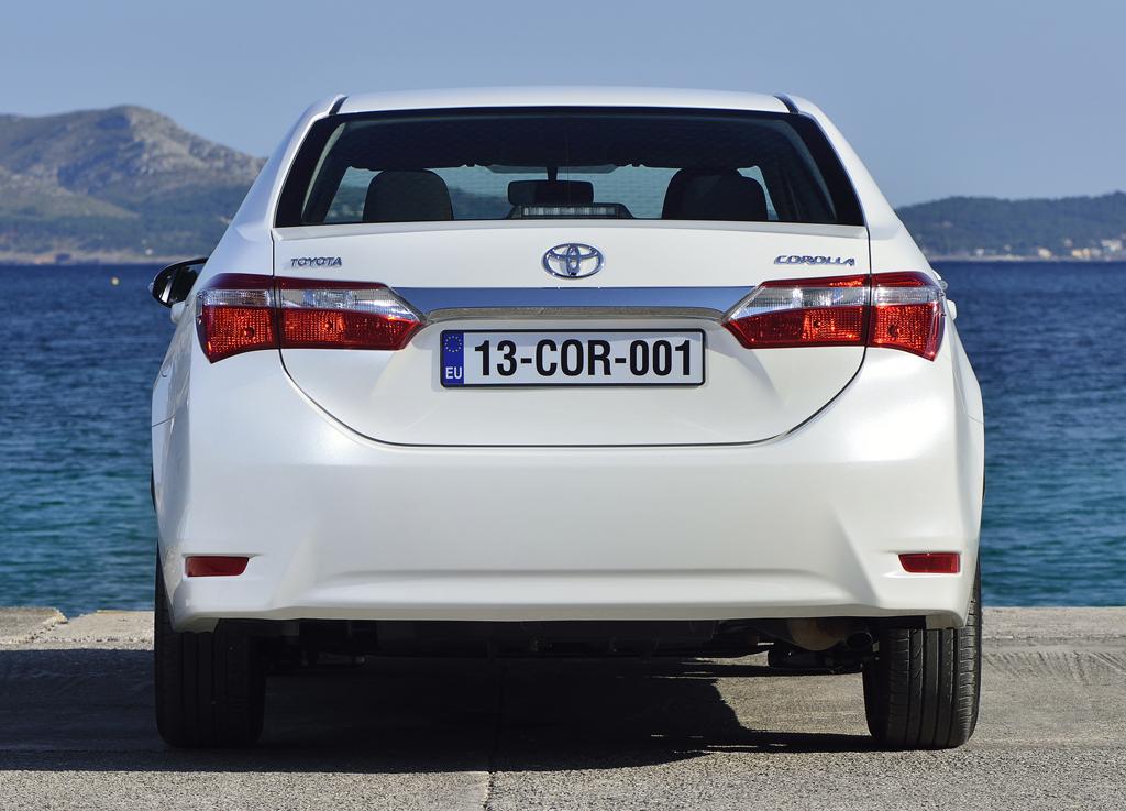 Toyota Corolla: Blick auf die Heckpartie.