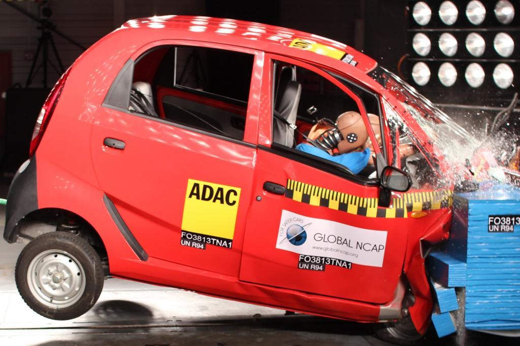 Unter anderem der Tata Nano fiel beim Crashtest durch