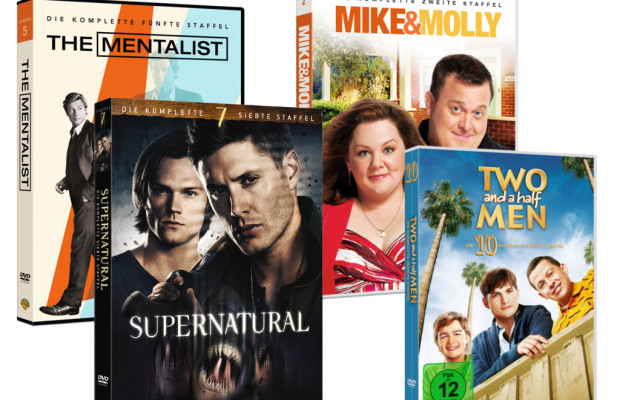 auto.de-Gewinnspiel: Warner Home Video DVD-Paket mit Two and a Half Men, Mike & Molly, The Mentalist und Supernatural