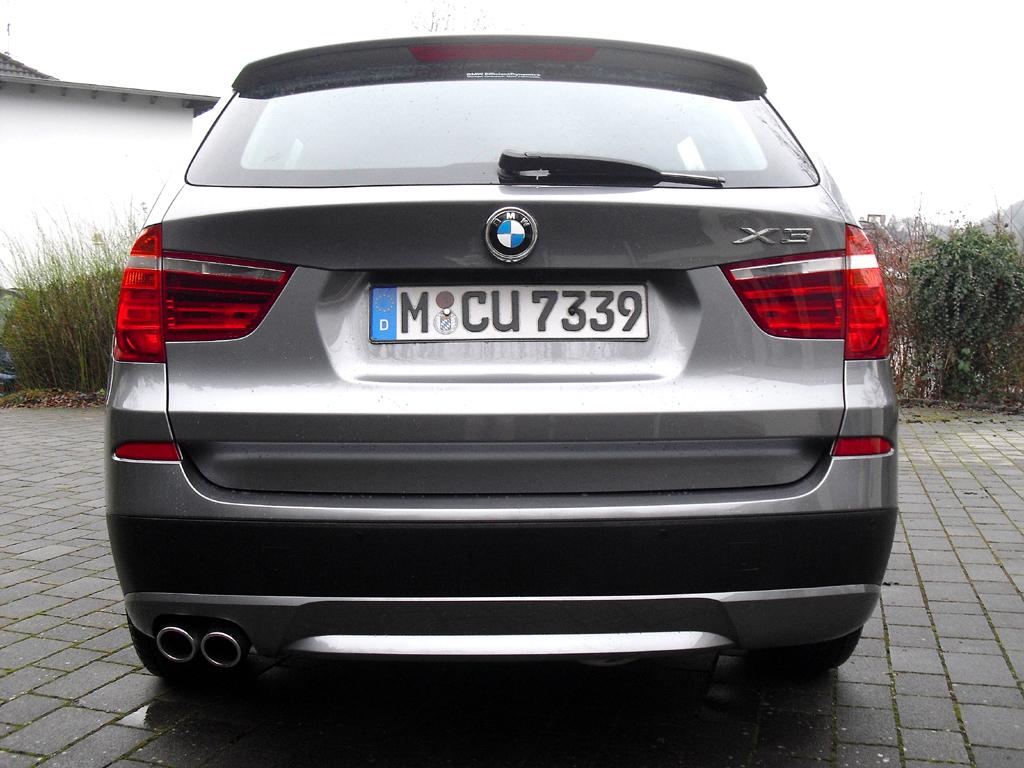 BMW X3: Blick auf die Heckpartie.