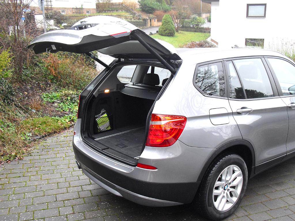BMW X3: Das Gepäckabteil fasst 550 bis 1600 Liter.