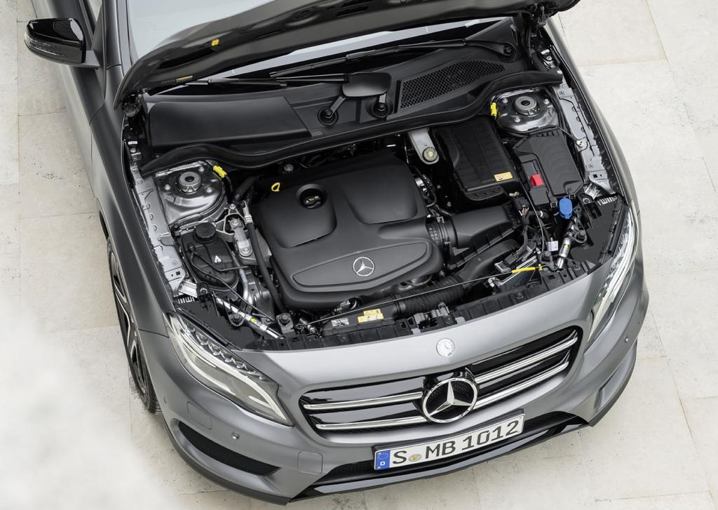 Blick unter die Haube: Samt AMG stehen fünf Vierzylinder-Turbos zur Wahl.